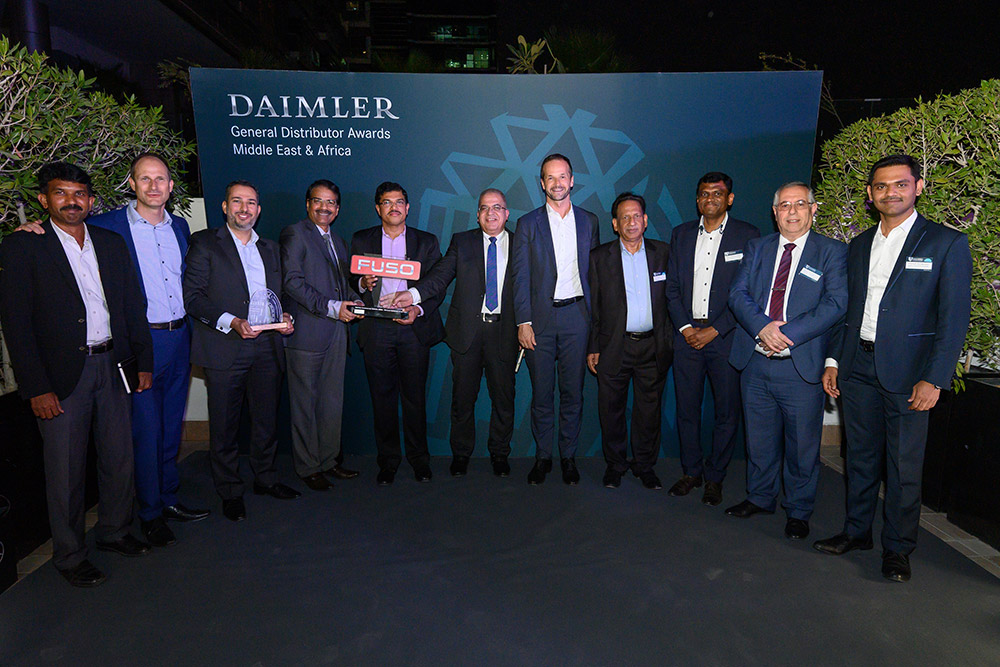 Best Sales Award and General Distributor Award for the year 2019 by Daimler Commercial Vehicles Middle East & Africa.